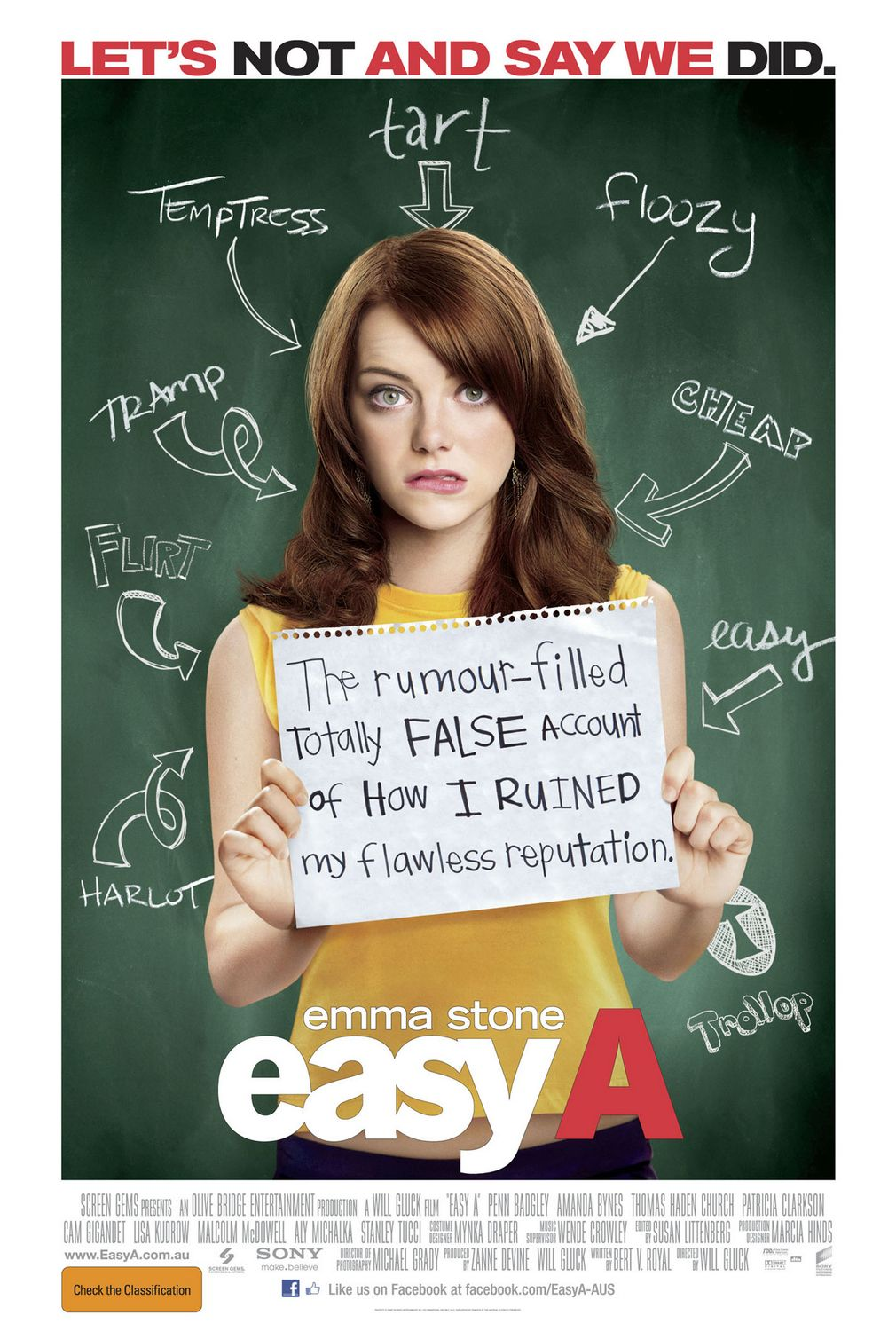 EASY A Rated M, 89 Minutes.