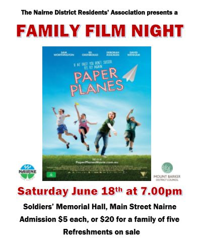 Nairne Movie Night Paper Planes