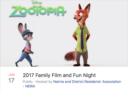 Zootopia Family Film Night Nairne