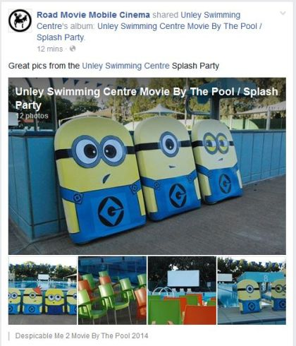Unley Swimming Centre Movie By The Pool / Facebook