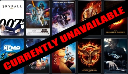 Click HERE to see a full list of films currently unavailable.