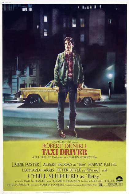 'The greatest thing to ever exist. Better than sliced bread. The Bee's knees. The gold standard. Flawless. Masterful. Iconic. Taxi Driver floors me every time I watch it. Every shot is perfection, every line of dialogue is simultaneously heartbreaking and illuminating, Travis Bickle is one of the finest characters ever written and De Niro embodies him brilliantly, every note of Bernard Herrmann's score makes my heart swell; all of it soothes the soul in a very personal and profound way.' – To read the full ★★★★★ review by SilentDawn on Letterboxd click on the poster above