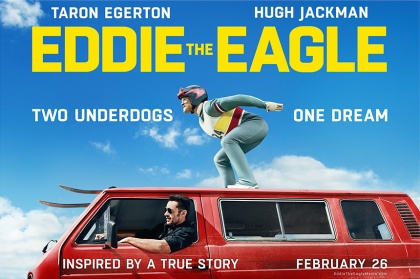"'This is a feel-good underdog movie based upon the life of British ski-jumper Michael ""Eddie"" Edwards aka ""Eddie the Eagle."" He participated in the 1988 Calgary Games in both the 70-meter and 90-meter events, posting distances that were dead last but still established British Olympic records for both. He immediately became a media sensation for his heroic failures, full of heart and passion, rivaling the members of the Jamaican bobsled team in popularity.' – To read the ★★★1/2 review by TajLV on Letterboxd click on the poster above"